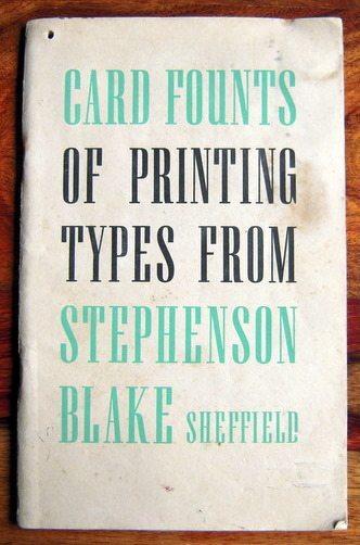 Stephenson, Blake Card Fount Catalogue