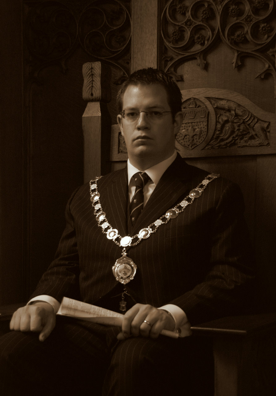 Councillor Benjamin Brundell during his year as Chairman