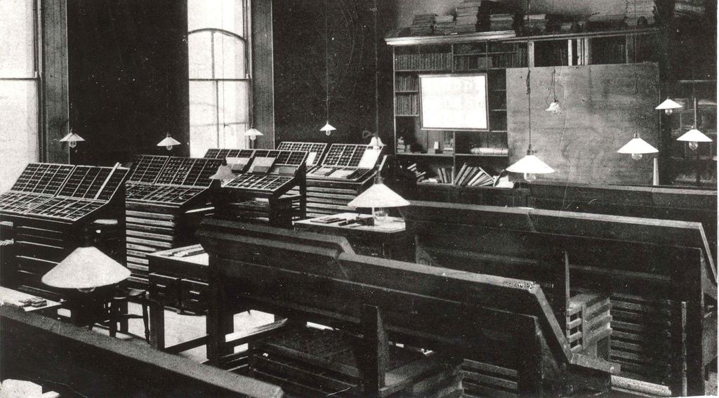 Case Room at Heriot Watt (from Edinburgh City of Print)
