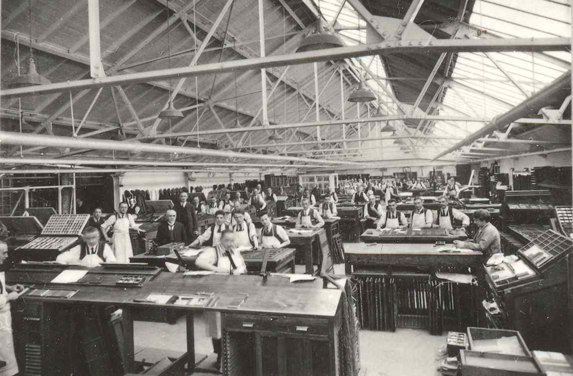 Case Room at Constable Printer (from Edinburgh City of Print)
