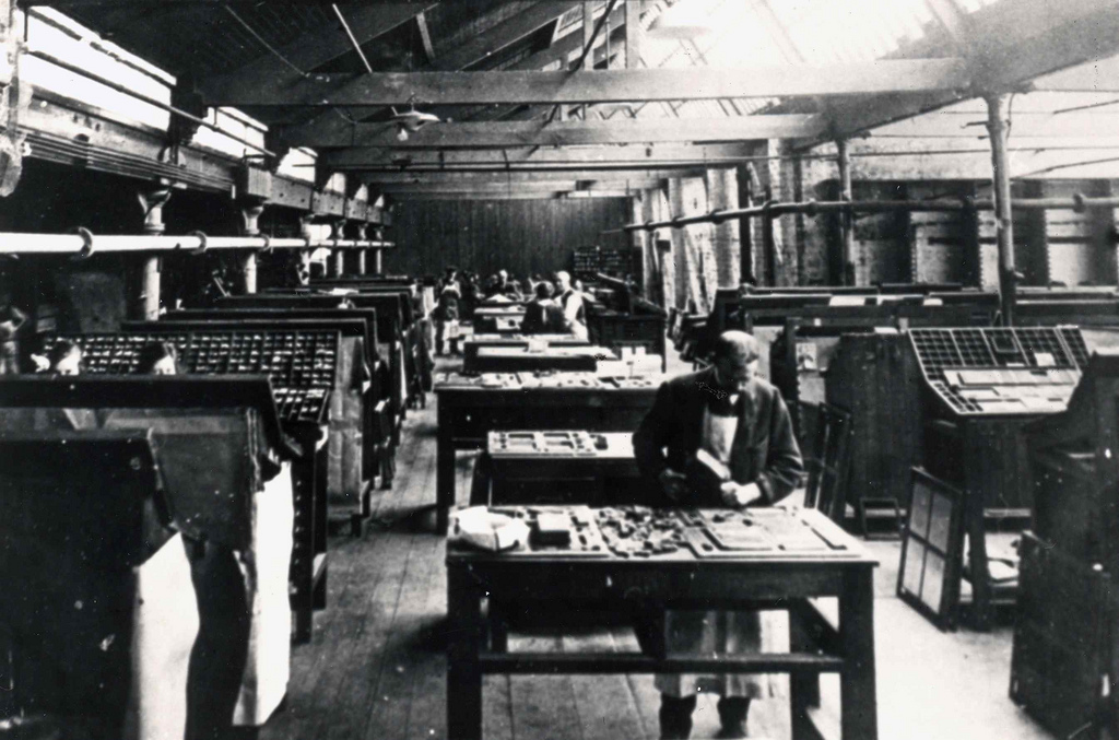 Compositors at Paul's Works (from Edinburgh City of Print)