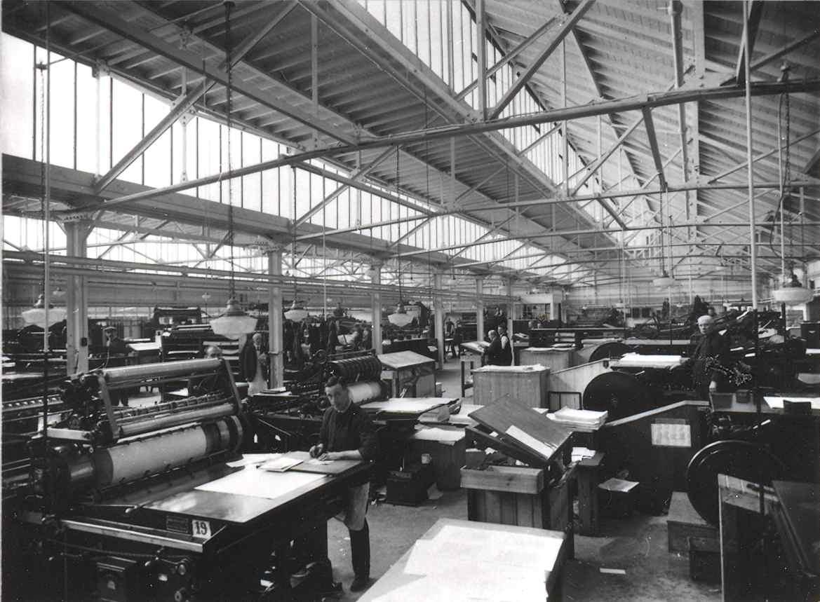 Machine Room at Constable Printer (from Edinburgh City of Print)