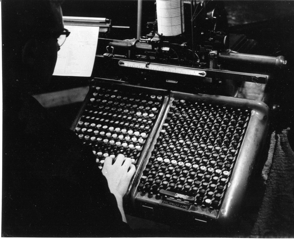 Monotype Keyboard (from Edinburgh City of Print)