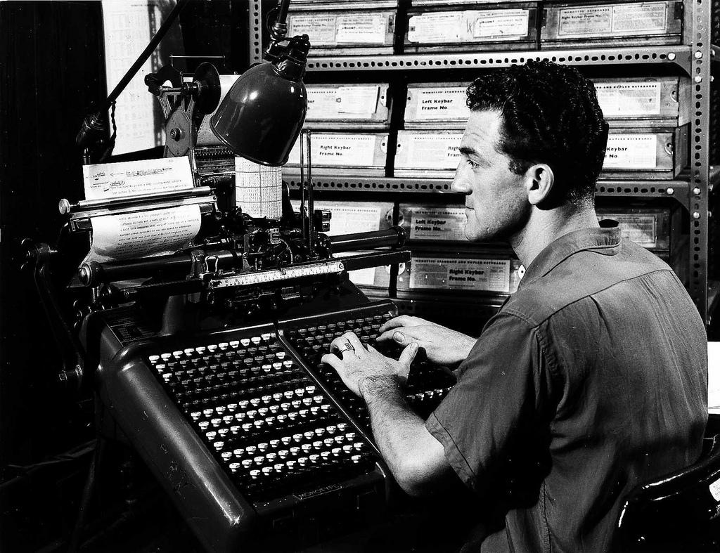 Monotype Keyboard (from Edinburgh City of Print)
