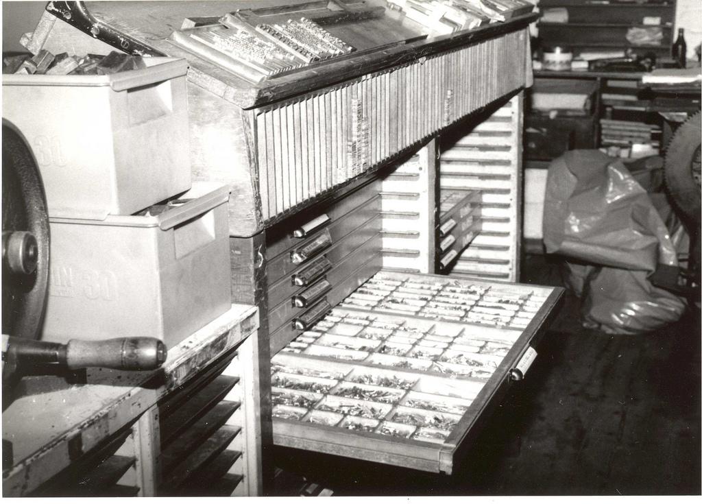 Type Cabinet at Speedspools (from Edinburgh City of Print)