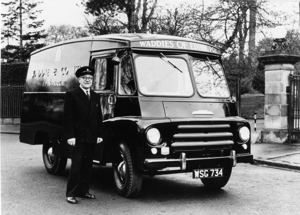 Waddies Delivery Van (from Edinburgh City of Print)
