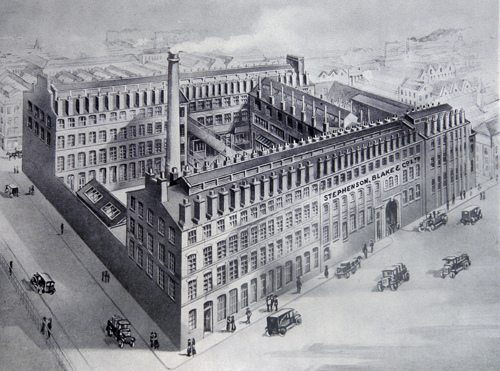Engraving of the Stephenson, Blake Foundry