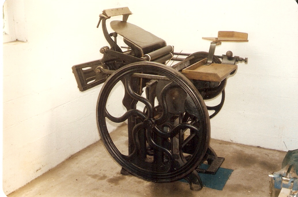 Haddon Gordon Platen Press
