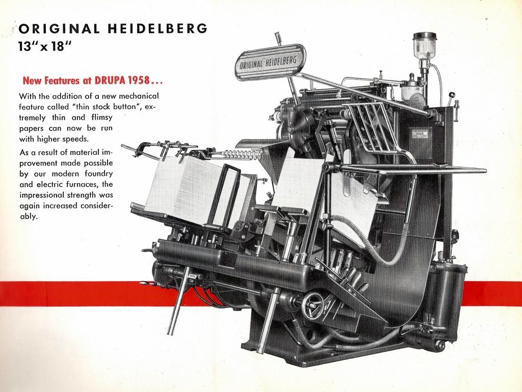 "Heidelberg Platen (13"" x 18"")"